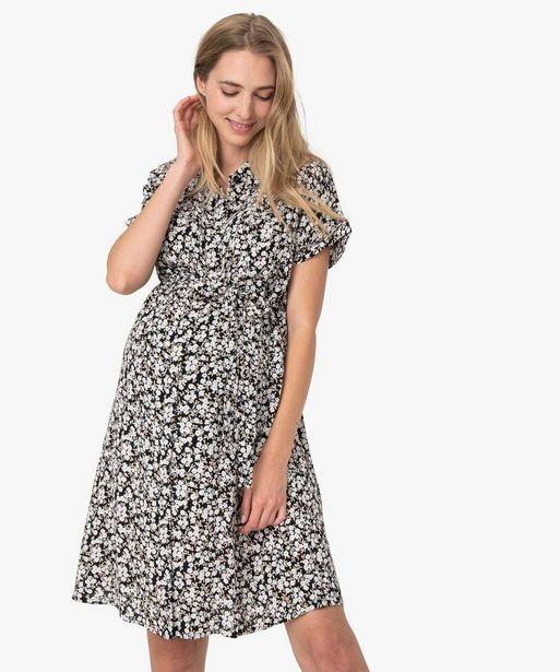 Robe de grossesse coupe chemise à motif offre à 17,49€