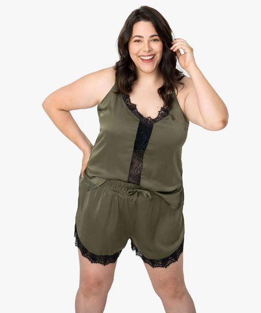 Pyjama femme en satin et dentelle – Gémo x Lalaa Misaki offre à 9,99€