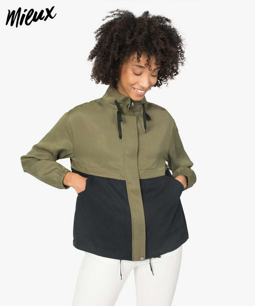 Veste femme bicolore en Lyocell avec col montant offre à 19,99€