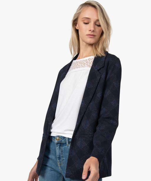 Veste femme à motifs jacquard et fil lurex offre à 17,49€