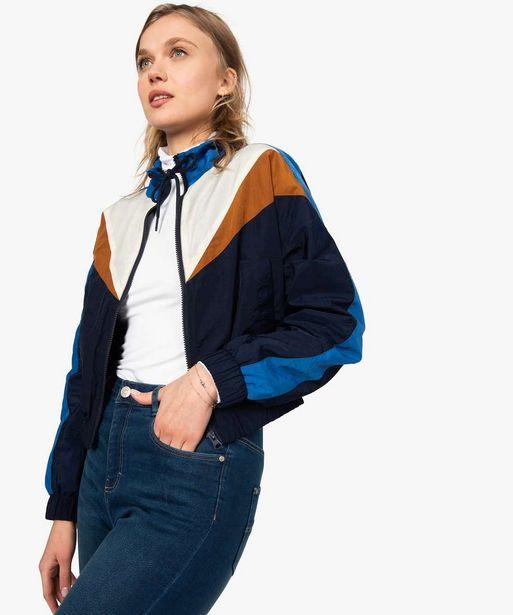 Veste de sport femme zippée multicolore offre à 29,99€