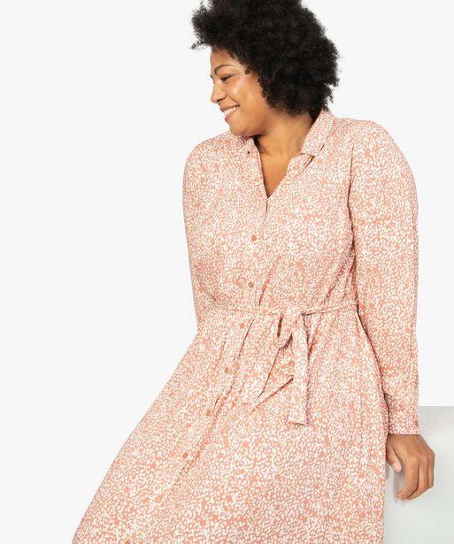 Robe longue femme imprimée boutonnée sur l'avant offre à 39,99€