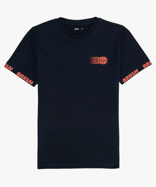 Tee-shirt garçon imprimé basket offre à 5,99€