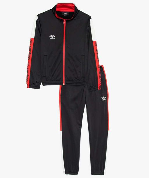 Survêtement garçon 2 pièces : sweat zippé et pantalon de jogging  - Umbro offre à 19,99€