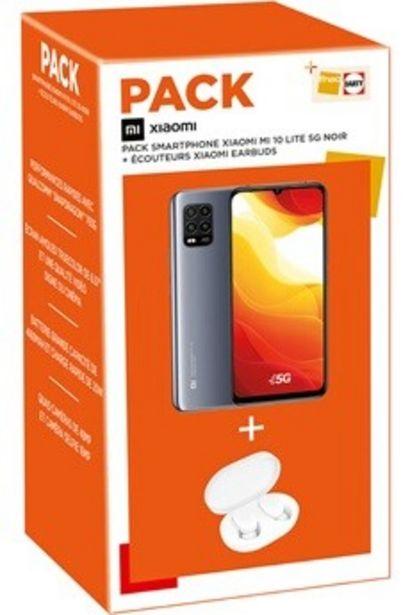 Smartphone PACK MI 10 LITE 128Go Noir 5G + Earbuds Xiaomi offre à 349€