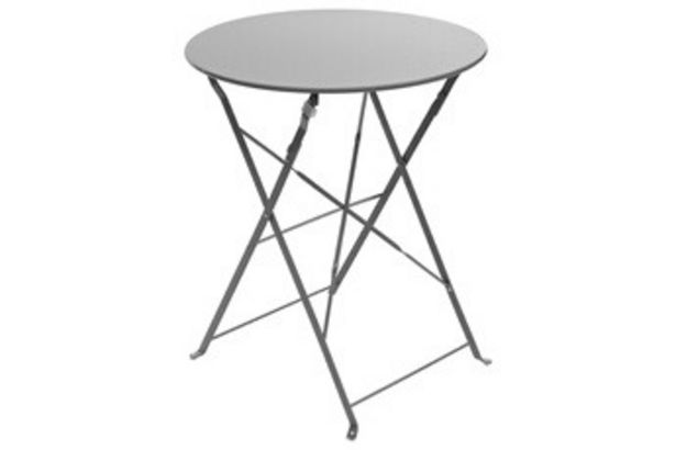 Salon de jardin Table de jardin Pliable Camargue 60x71cm Graphite Hesperide offre à 17,99€