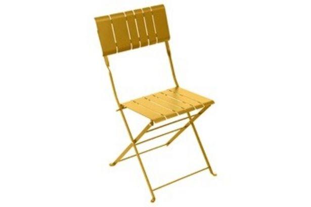 Salon de jardin Chaise de jardin Pliable NASCA MOUTARDE Hesperide offre à 29,99€