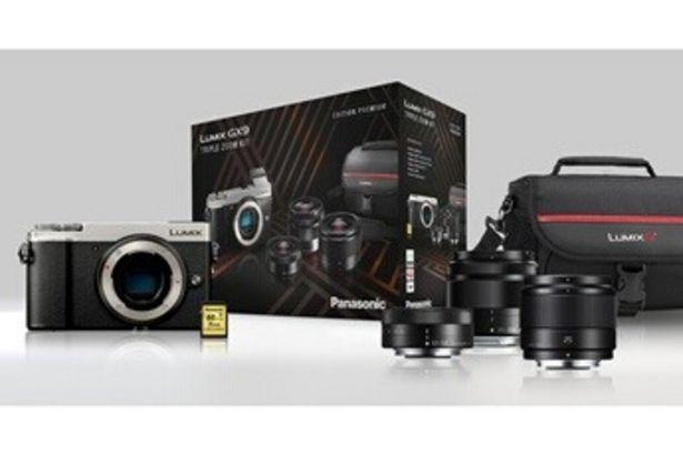 Appareil photo hybride Lumix GX9 + kit de 3 objectifs (12-32 mm, 35-100 mm, 25 mm) + sacoche Lumix + carte SD 16 Go Panasonic offre à 849,99€