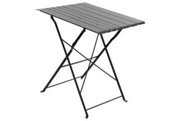 Salon de jardin Table de jardin Pliable NASCA 2 personnes Graphite Hesperide offre à 29,99€