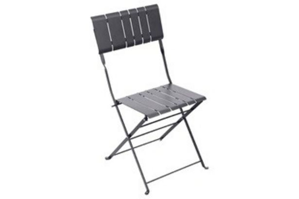 Salon de jardin Chaise de jardin Pliable NASCA GRAPHITE Hesperide offre à 29,99€