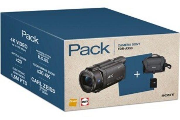 Caméscope PACK FDR-AX53 4K + FOURRE-TOUT + SD 16GO Sony offre à 749,99€