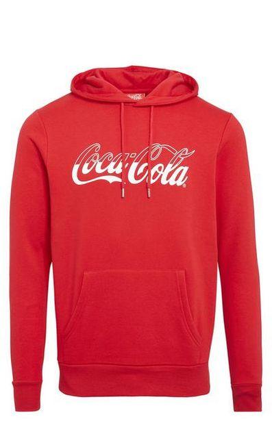 Sweat à capuche rouge Coca-Cola à enfiler offre à 14€