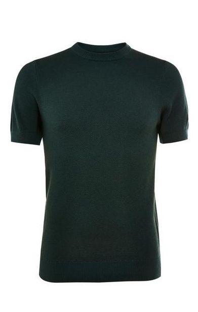 T-shirt vert forêt ras du cou à manches courtes Premium offre à 14€