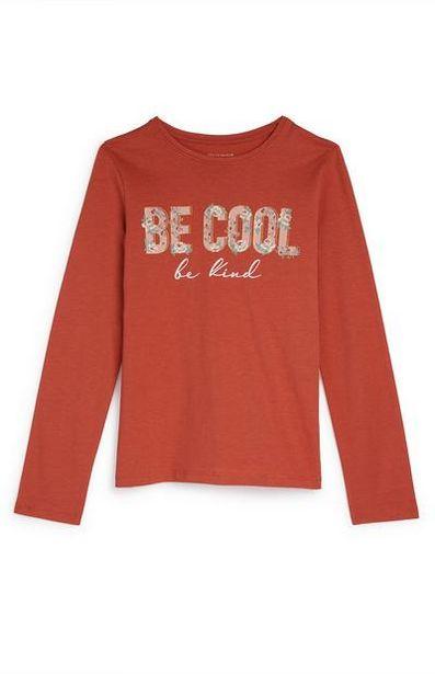 Haut orange à manches longues Be Cool ado offre à 3€