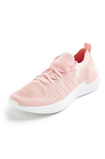 Baskets rose clair en maille offre à 14€