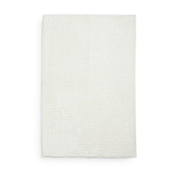 Très grand tapis de bain ivoire en maille chenille offre à 7€