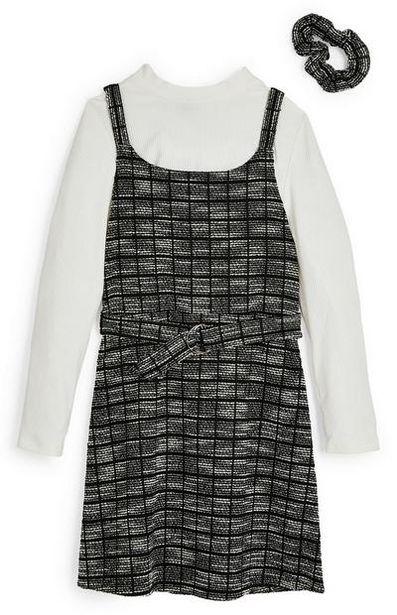 Robe monochrome 2 en 1 en maille bouclée avec chouchou ado offre à 14€