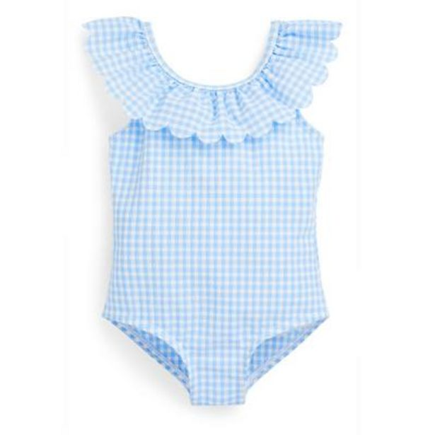 Maillot de bain bleu en seersucker bébé fille offre à 6€
