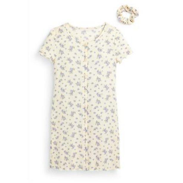 Ensemble 2 pièces avec robe ivoire boutonnée en jersey à imprimé fleuri ado offre à 11€