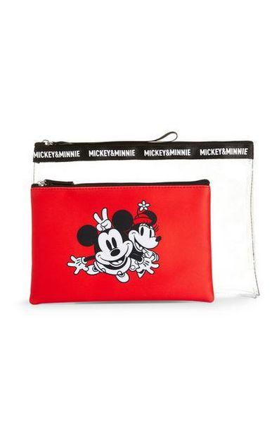 Lot de 2pochettes rouge et transparente Minnie Mouse offre à 6€