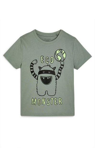 T-shirt kaki Eco Monster garçon offre à 2€