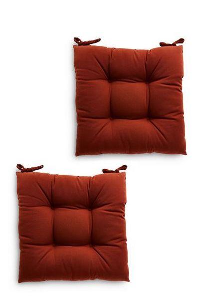Lot de 2coussins de chaise terracotta offre à 9€