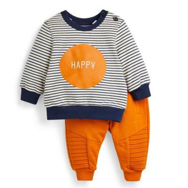 Ensemble d'intérieur orange à rayures bébé garçon offre à 12€