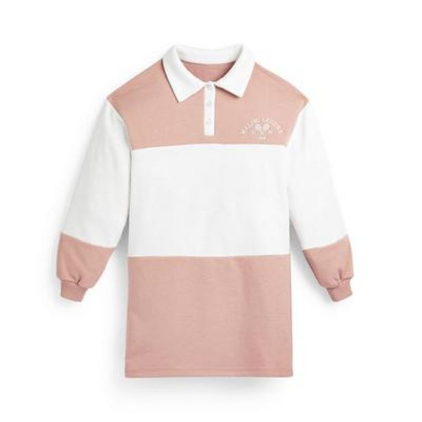 Robe rose style universitaire ado offre à 12€