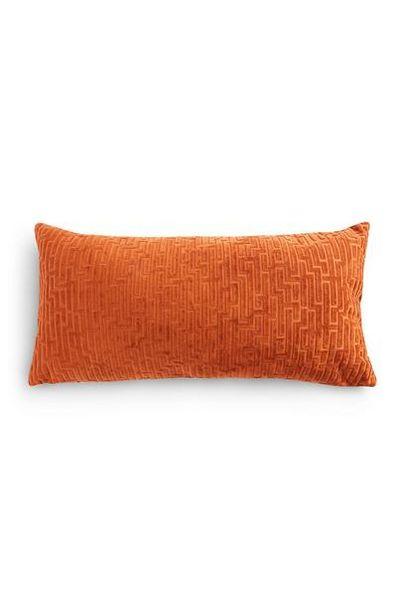 Mini coussin rectangulaire orange foncé Meandros offre à 8€