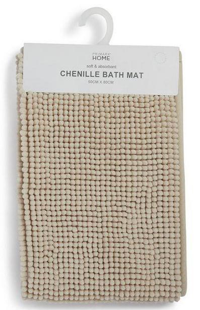 Tapis de bain de couleur naturelle en maille chenille offre à 6€