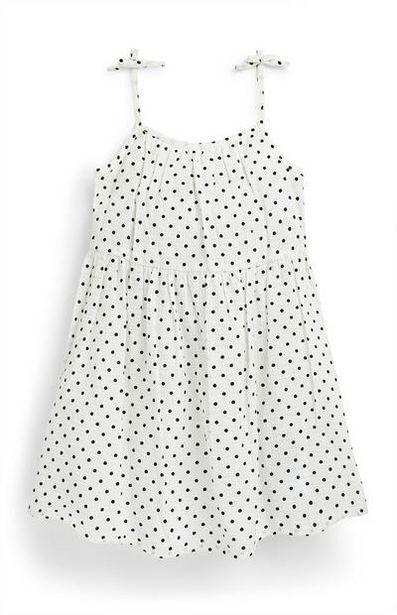 Robe blanche à pois en seersucker fille offre à 6€