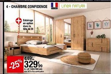 Lit 140x190 cm offre à 329,99€