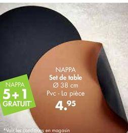 NAPPA Set de table jaune, vert Ø 38 cm offre à