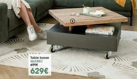 Table basse Quebec offre à 629€