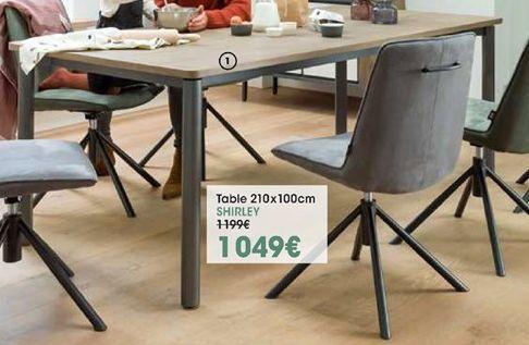 Table de cuisine Shirley offre à 1049€