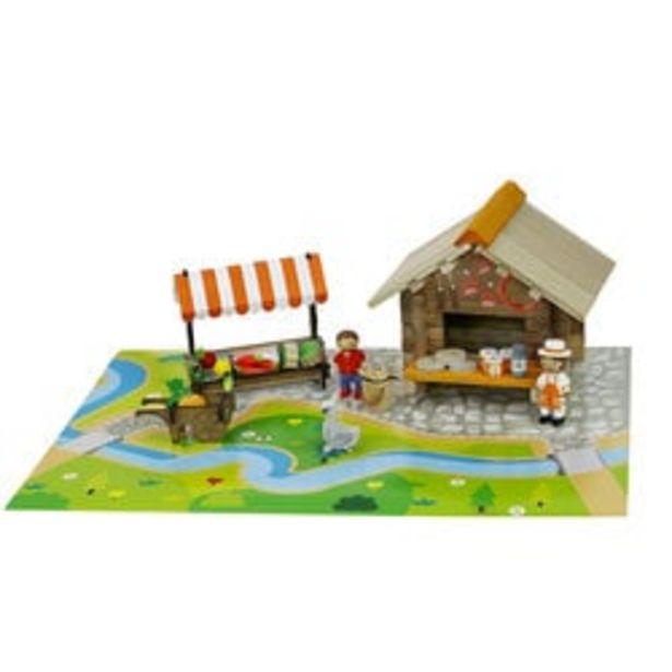 La place du marché en bois 80 pièces offre à 29,99€