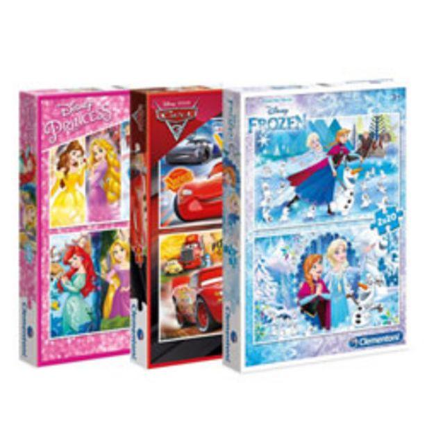 Puzzle 2 x 20 pièces Assortiment Disney offre à 7€