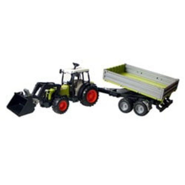 Tracteur Claas avec fourche et remorque offre à 19,99€