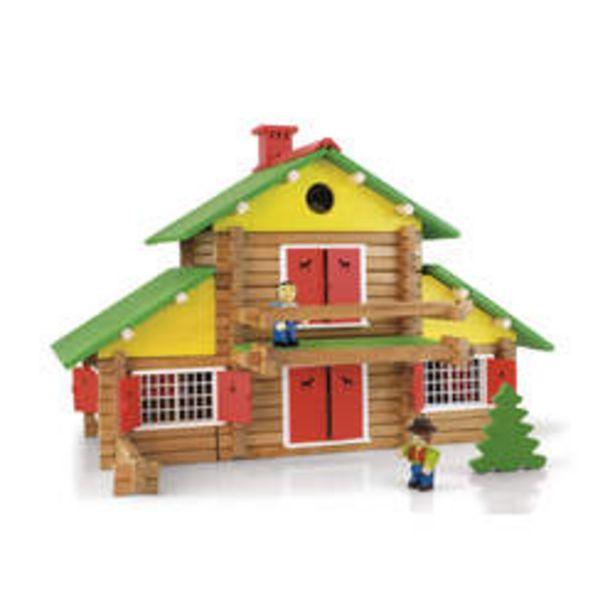 Chalet en bois 240 pièces avec 3 personnages offre à 54,99€