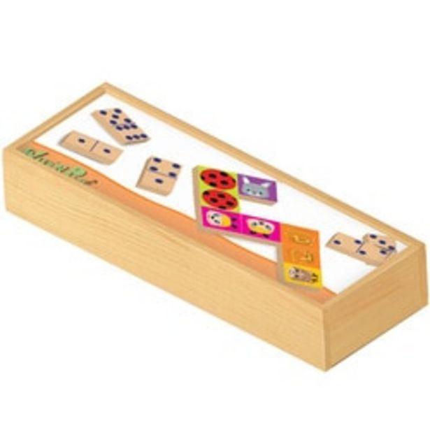 Dominos en bois double face offre à 10,49€