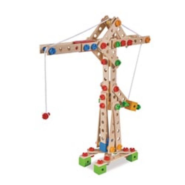 Jeu de construction bois - maxi grue - 170 pièces - 5 en 1 offre à 29,99€
