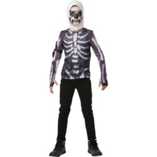 Fortnite-Déguisement top avec cagoule Skull Trooper 9/10 ans offre à 17,49€