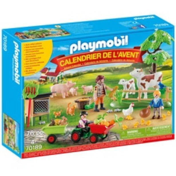 70189 - Calendrier de l'Avent Playmobil - Animaux de la ferme offre à 17,99€