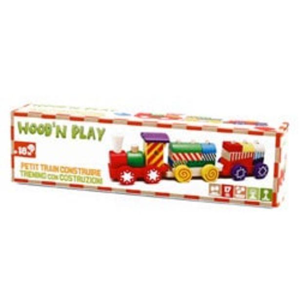 Train en bois petit modèle offre à 11,99€