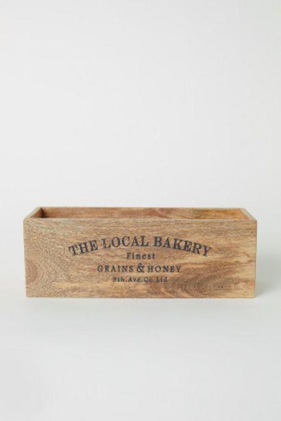 Boîte rectangulaire en bois offre à 9,99€