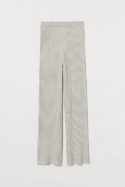 Pantalon en maille côtelée offre à 9,99€