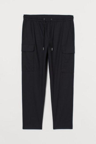 Pantalon cargo en lin mélangé offre à 9,99€