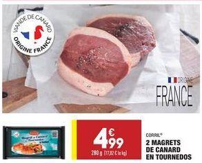 2 magrets de canard en tournedos  offre à 4,99€