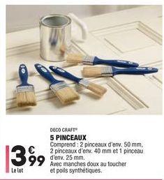 5 pinceaux offre à 3,99€
