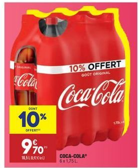 Coca-cola  offre à 9,7€